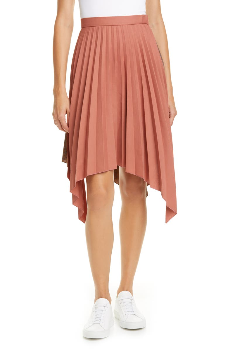 ACNE STUDIOS Ilsie Bico Suiting Skirt, Main, color, CORAL RED