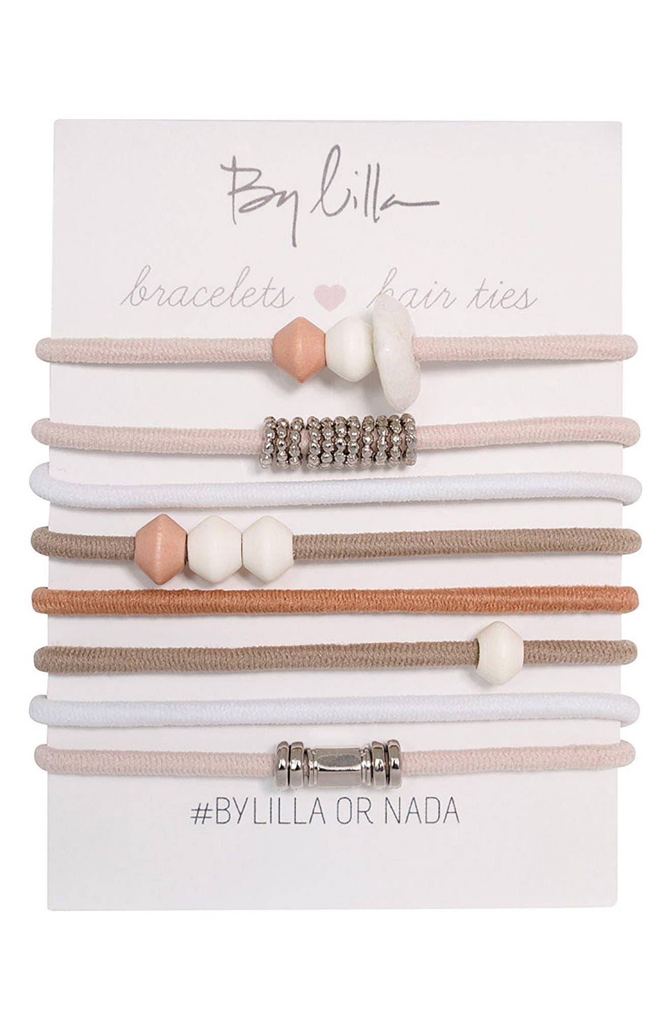 Set Of 8 Bracelet Hair Ties