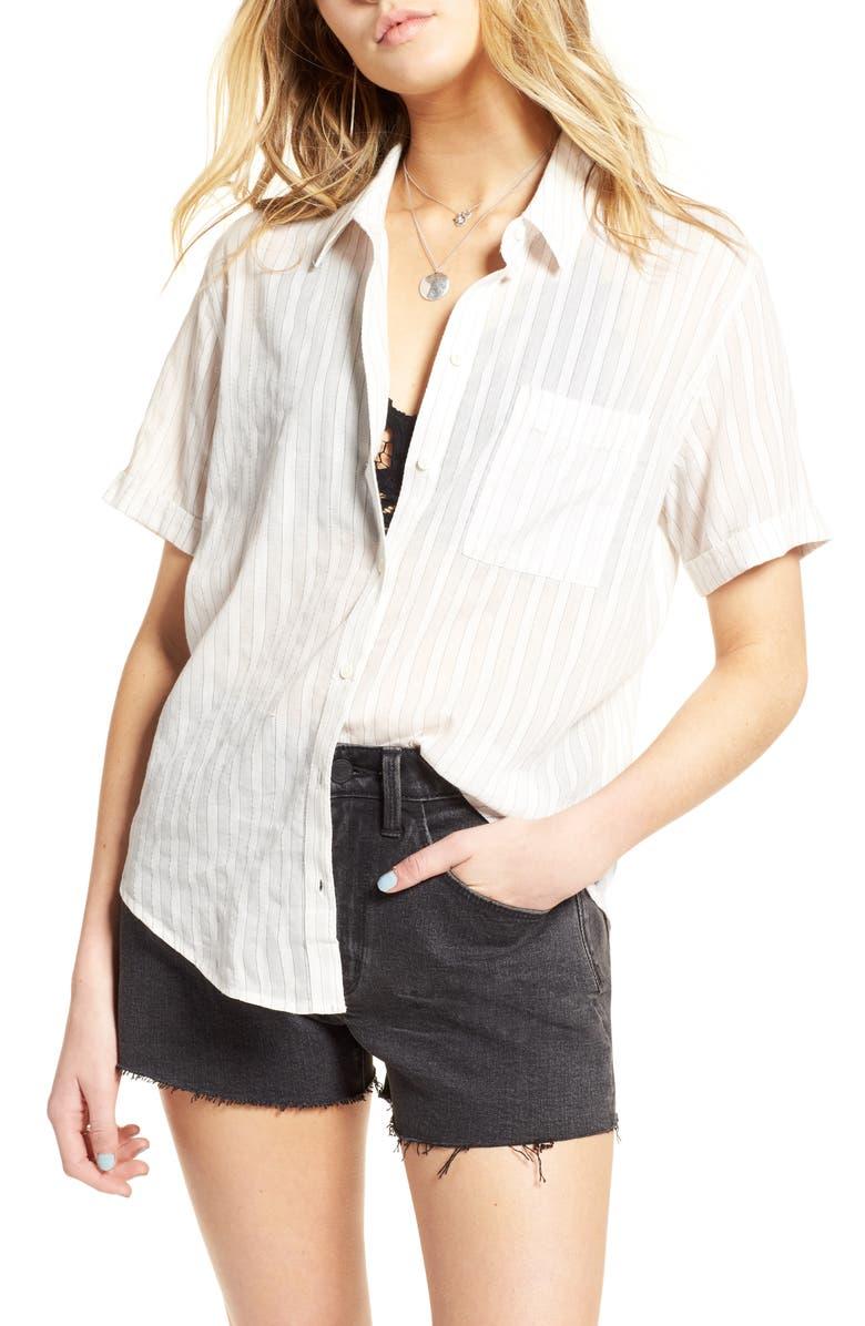 TREASURE & BOND Stripe Shirt, Main, color, 100