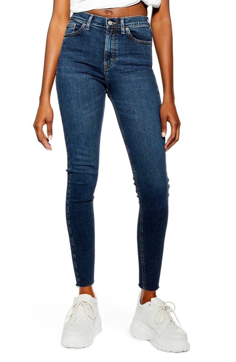 TOPSHOP Jamie Vintage Jeans, Main, color, INDIGO
