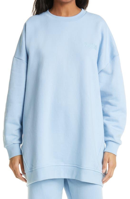 Ganni Cottons SOFTWARE ISOLI ORGANIC COTTON BLEND LONG SWEATSHIRT