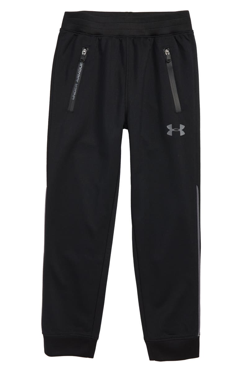 UNDER ARMOUR Pennant Pants, Main, color, BLACK