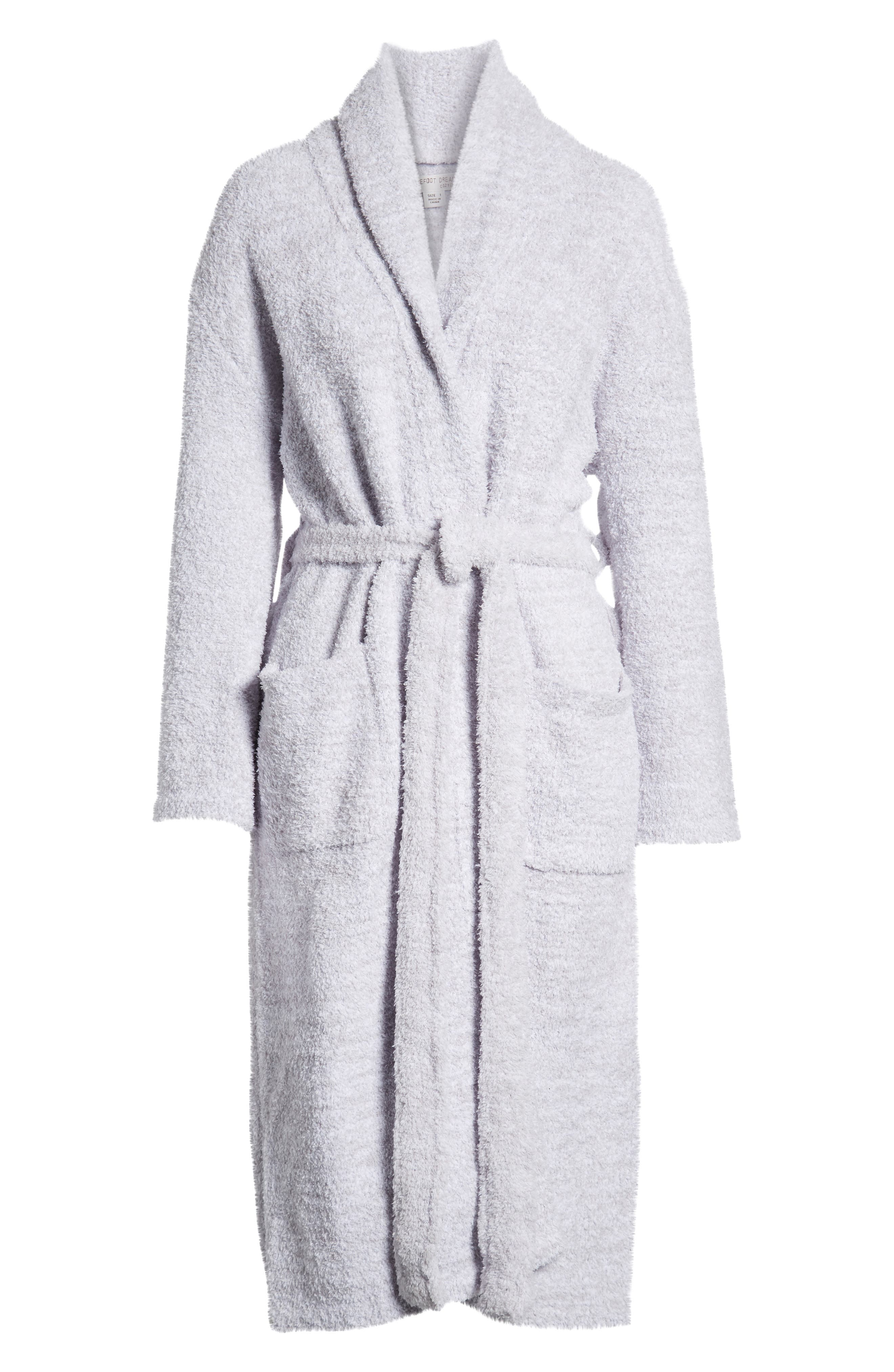 ,                             CozyChic<sup>®</sup> Robe,                             Alternate thumbnail 2, color,                             LIGHT GRAY/ WHITE