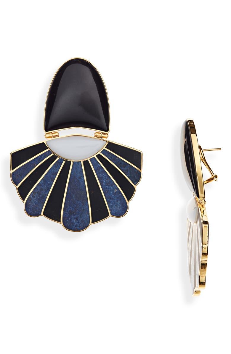 MONICA SORDO Mochima Mullu Chandelier Earrings, Main, color, DURMORT/WHT ONYX/BLK ONYX