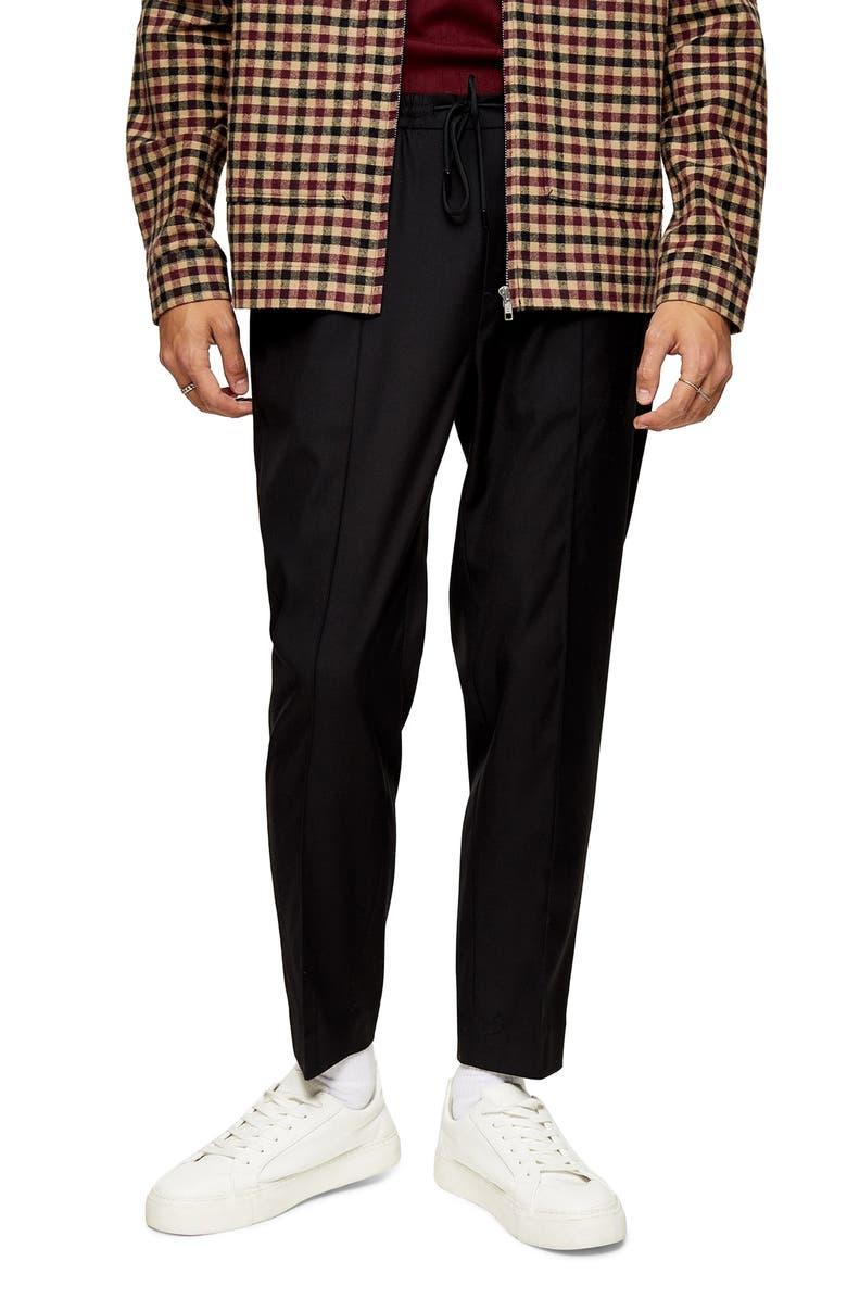 TOPMAN Slim Fit Jogger Pants, Main, color, 001