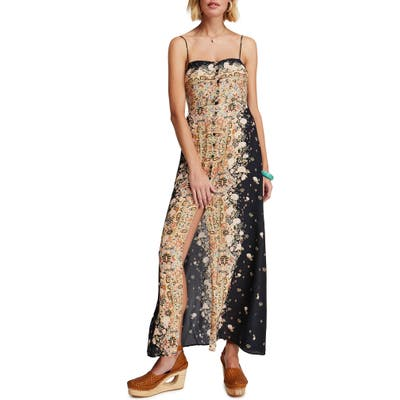 Free People Morning Song Print Maxi Dress, Black