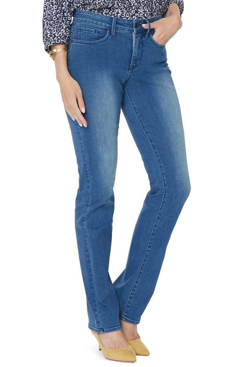 NYDJ Marilyn Straight Leg Jeans, Main, color, 406