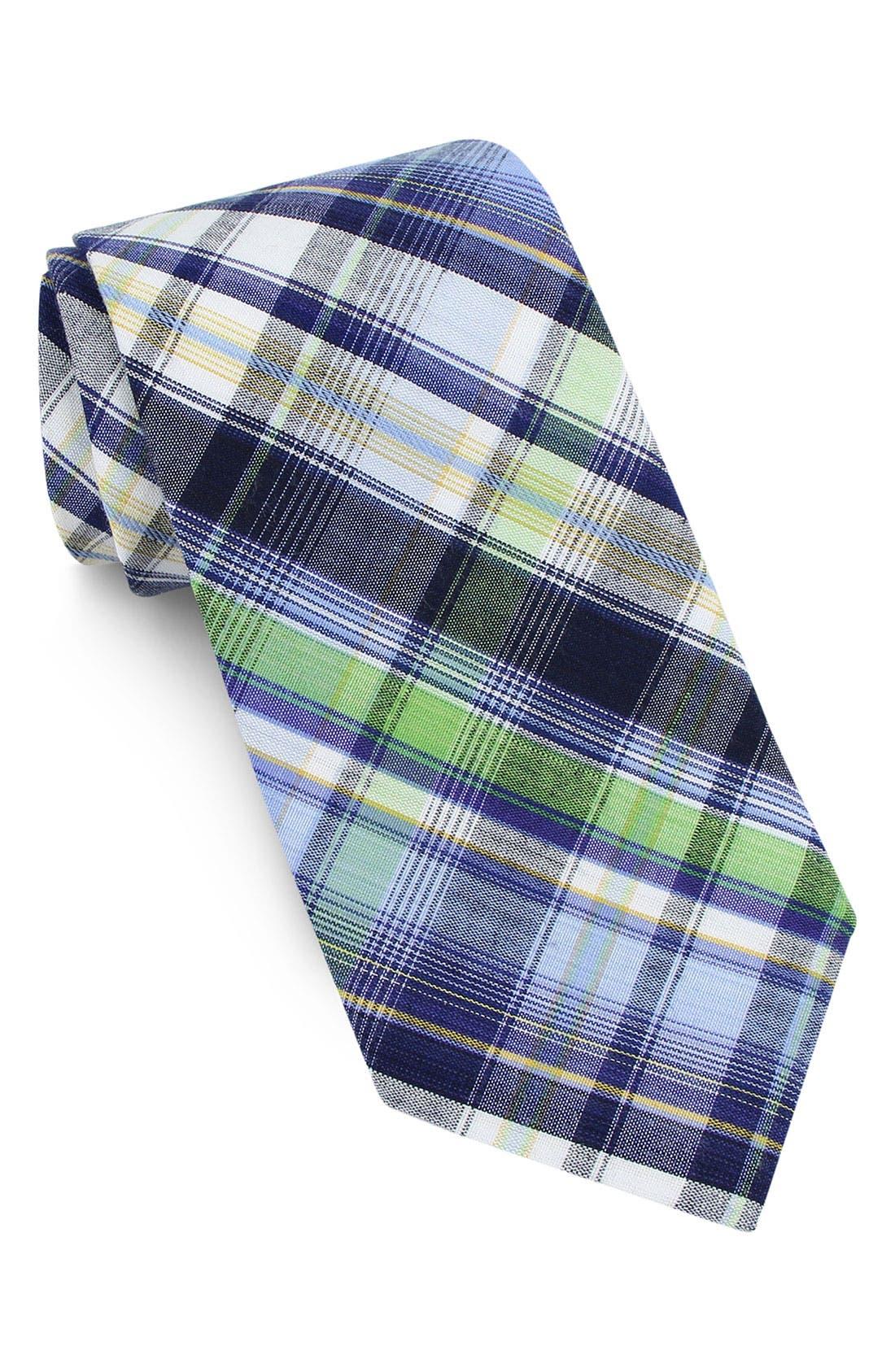 Woven Cotton Tie, Main, color, 411