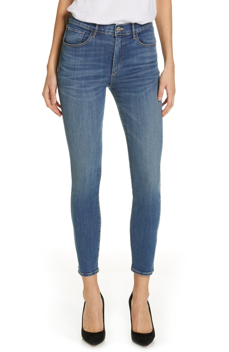 3X1 NYC High Waist Ankle Skinny Jeans, Main, color, 423