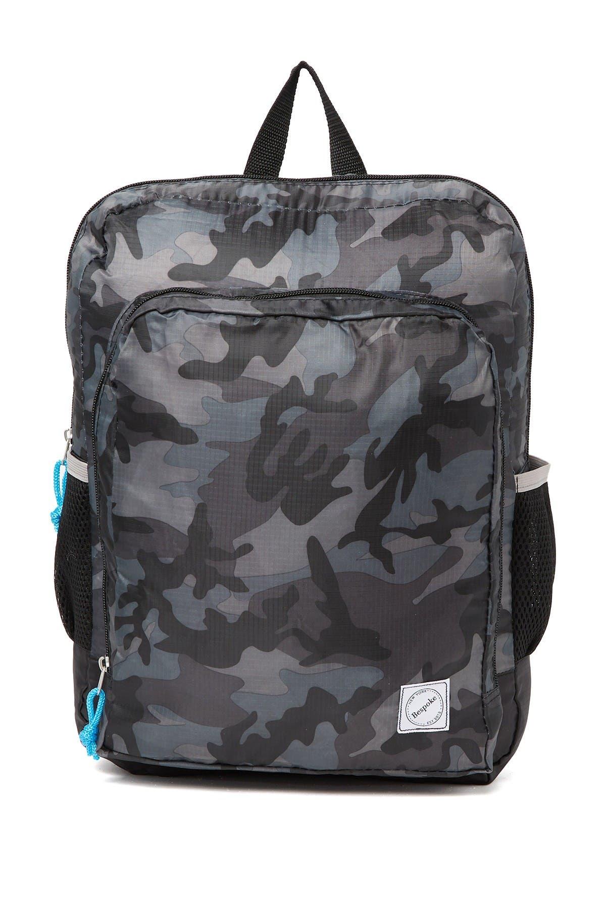 Image of Bespoke Black Camo Packable Backpack
