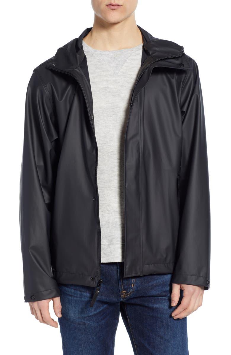 HELLY HANSEN Moss Waterproof Raincoat, Main, color, BLACK
