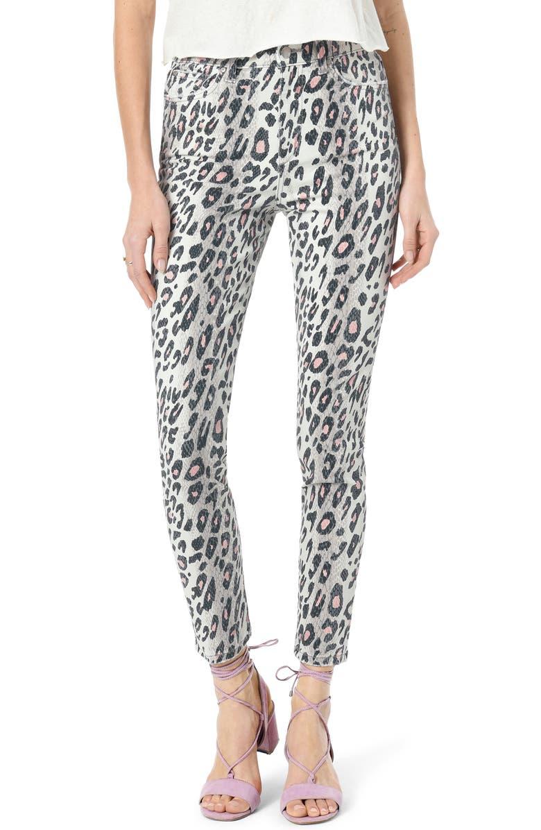 JOE'S Charlie Animal Print High Waist Ankle Skinny Jeans, Main, color, HYBRID PINK