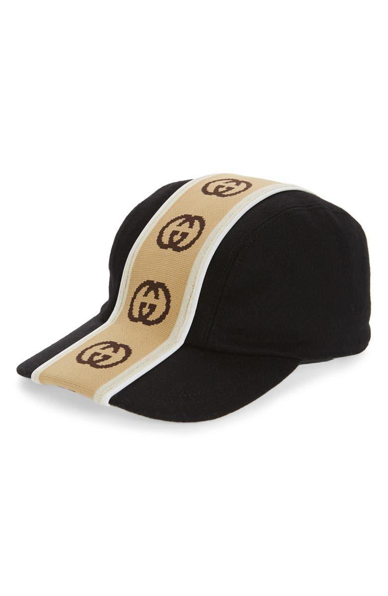 GUCCI GG Tape Cap, Main, color, BLACK