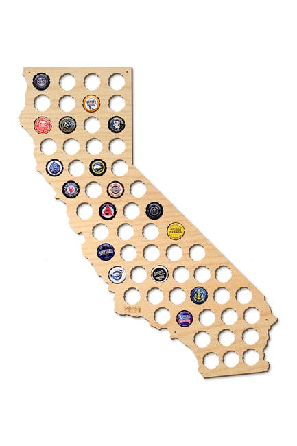 Image of AFTER 5 California Beer Cap Map