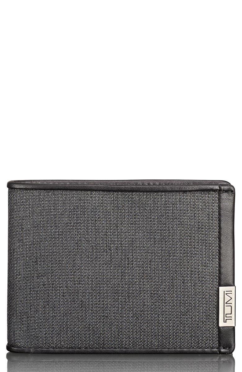 TUMI Alpha Billfold Wallet, Main, color, ANTHRACITE/ BLACK