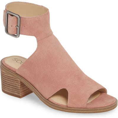 Sole Society Tally Ankle Cuff Sandal, Pink