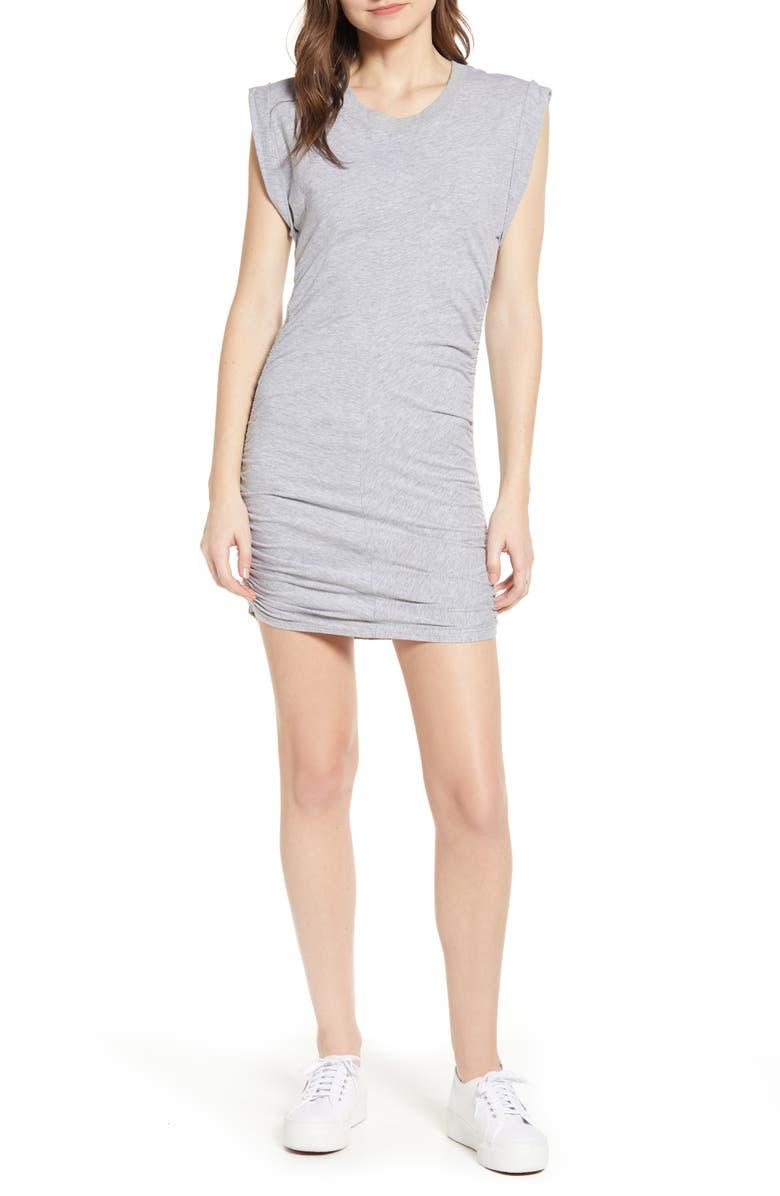 SPLENDID Ruched Jersey Minidress, Main, color, HEATHER GREY