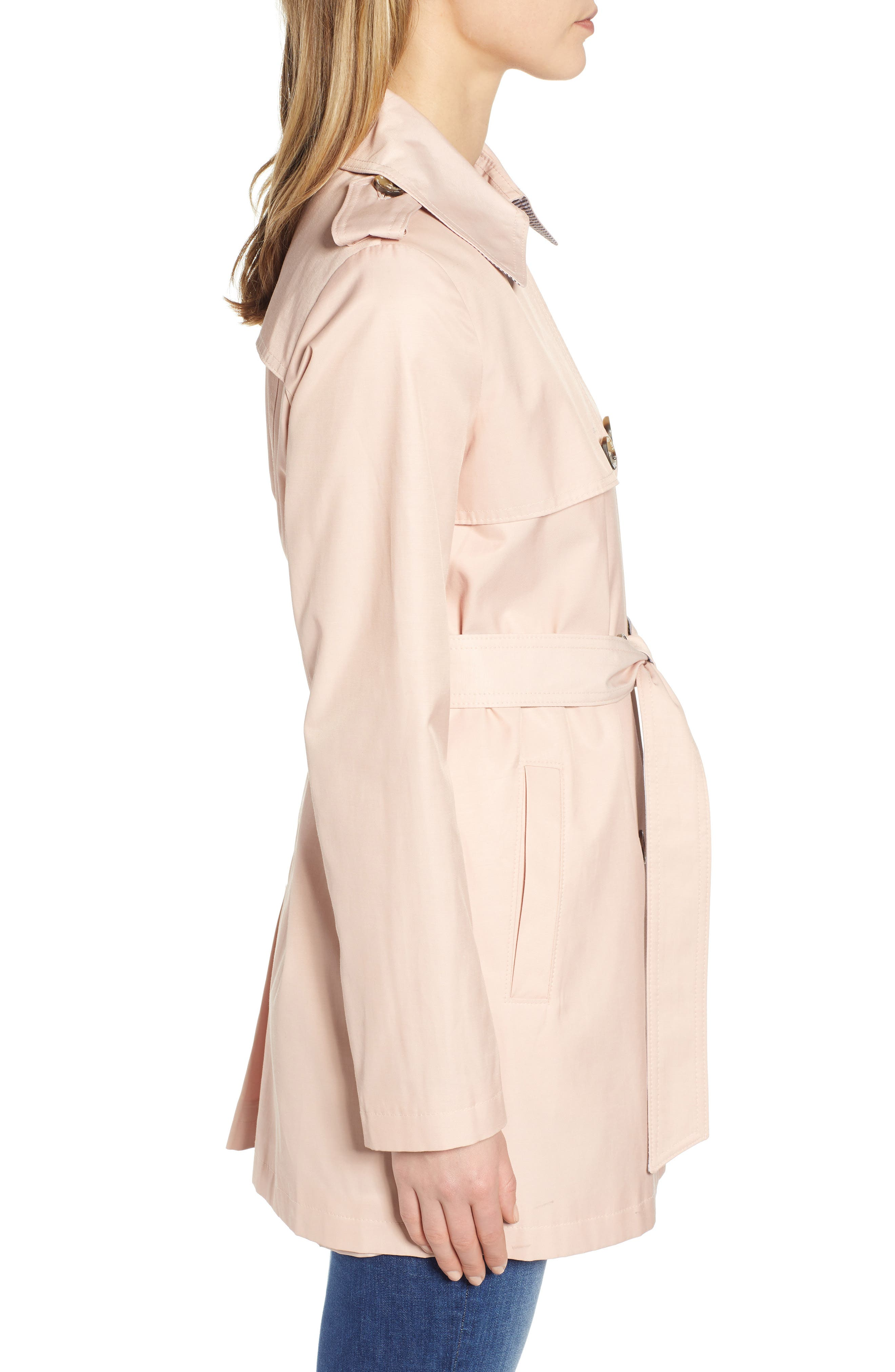 ,                             Water Resistant Trench Coat,                             Alternate thumbnail 4, color,                             BLUSH