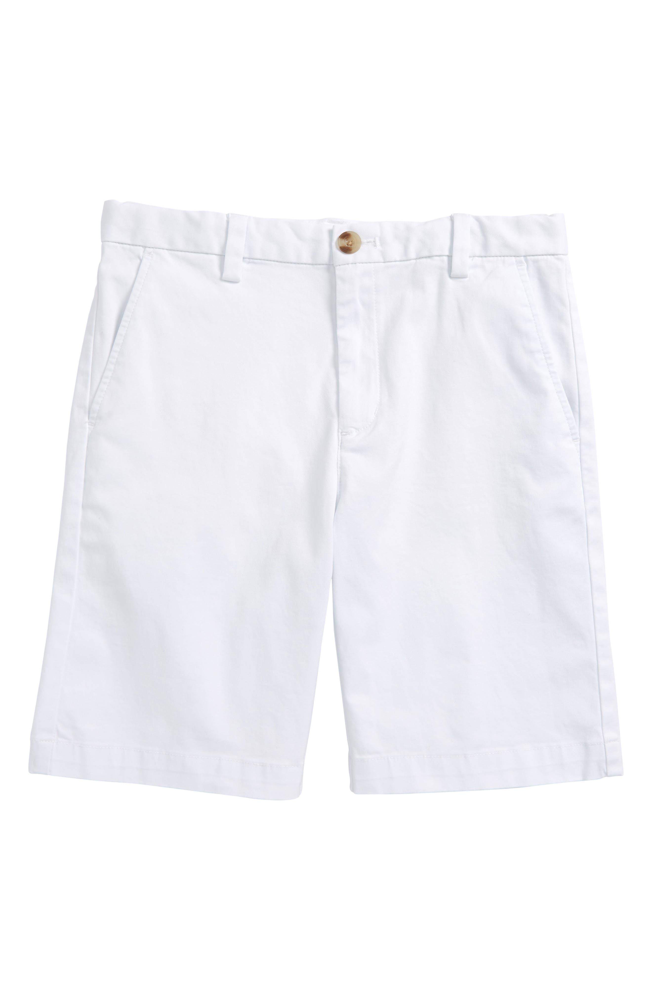 Boys Vineyard Vines Stretch Breaker Shorts Size 7  White