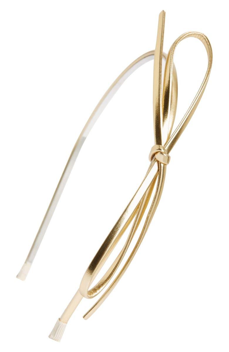 RUBY & BLOOM Thin Bow Headband, Main, color, 710