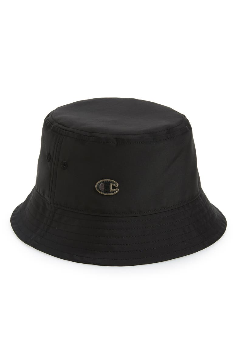 RICK OWENS x Champion Gilligan Bucket Hat, Main, color, 804981 NYLON BLACK