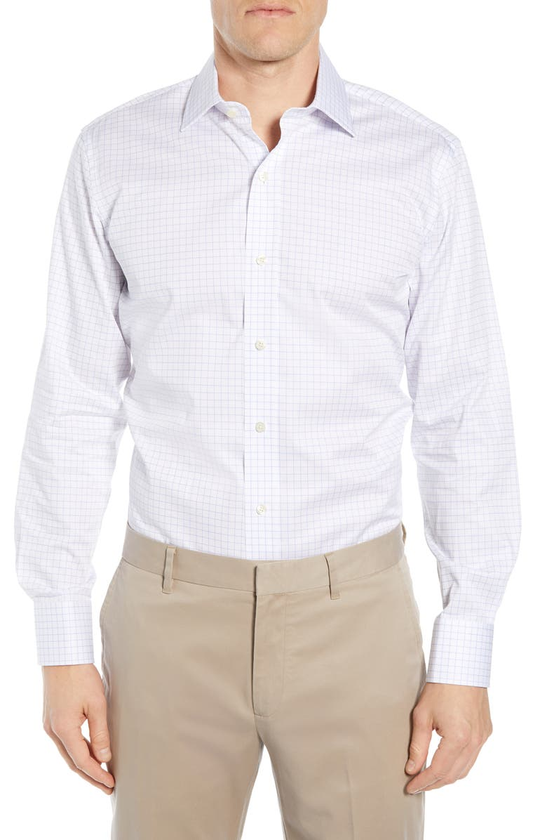 Ledbury Carrington Trim Fit Check Dress Shirt