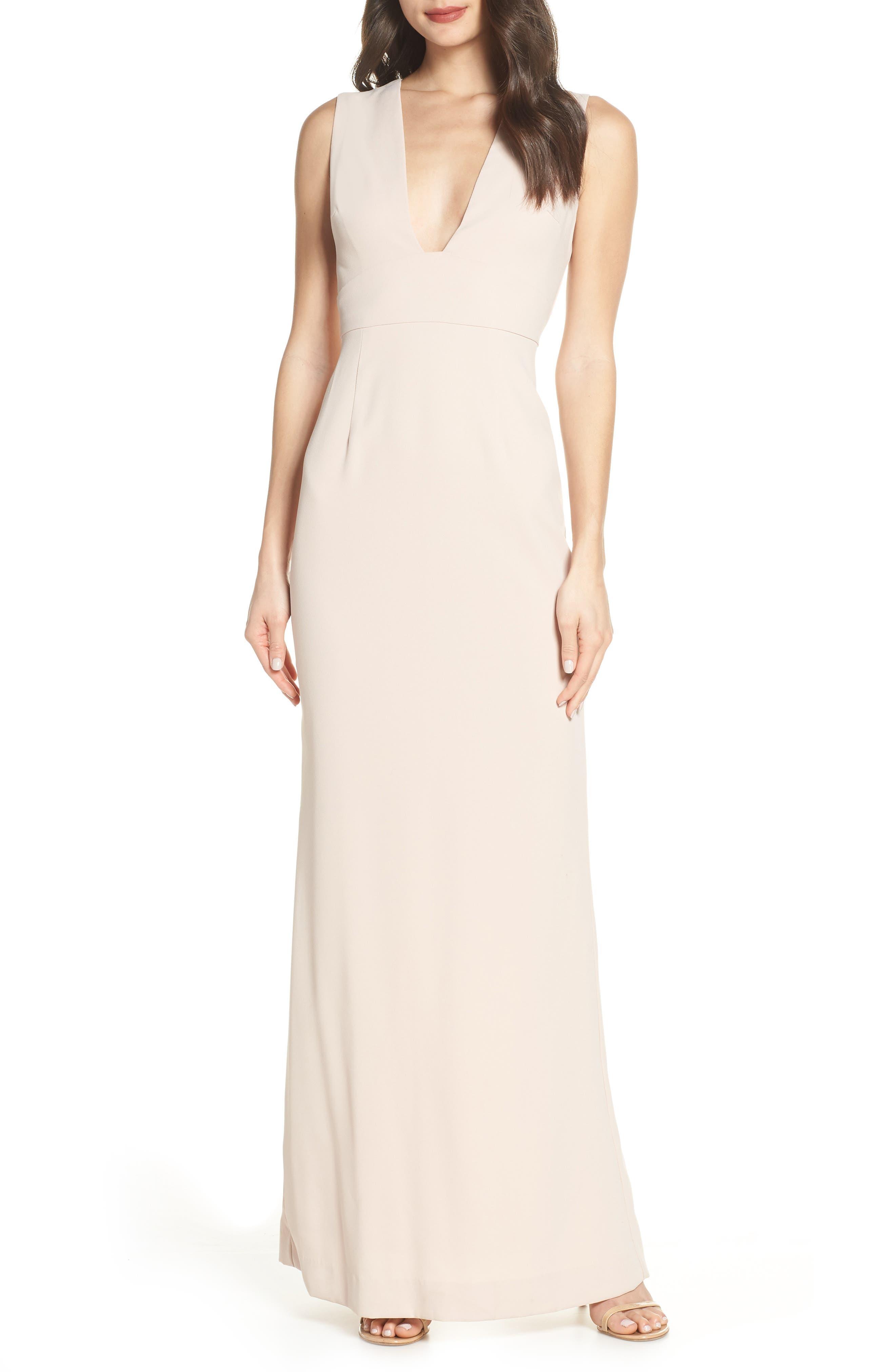 Foxiedox Laguna Sleeveless Gown, Beige