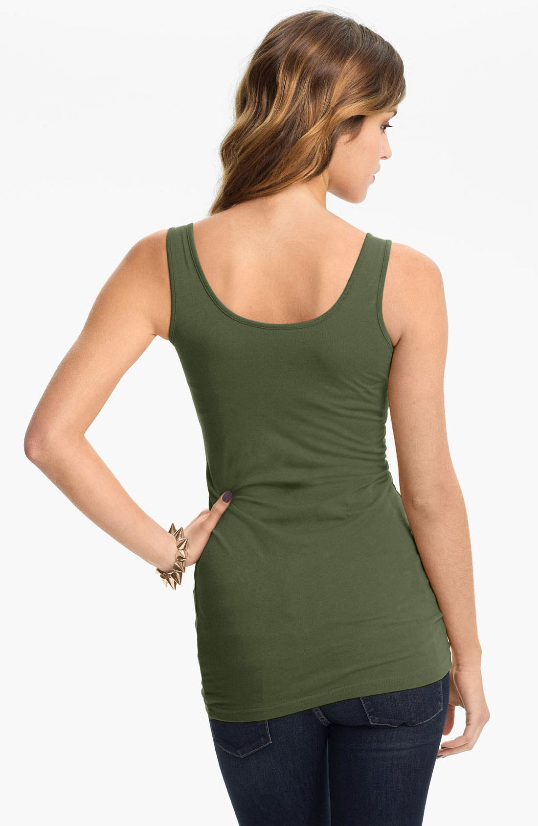 ,                             Double Scoop Neck Tank,                             Alternate thumbnail 2, color,                             061
