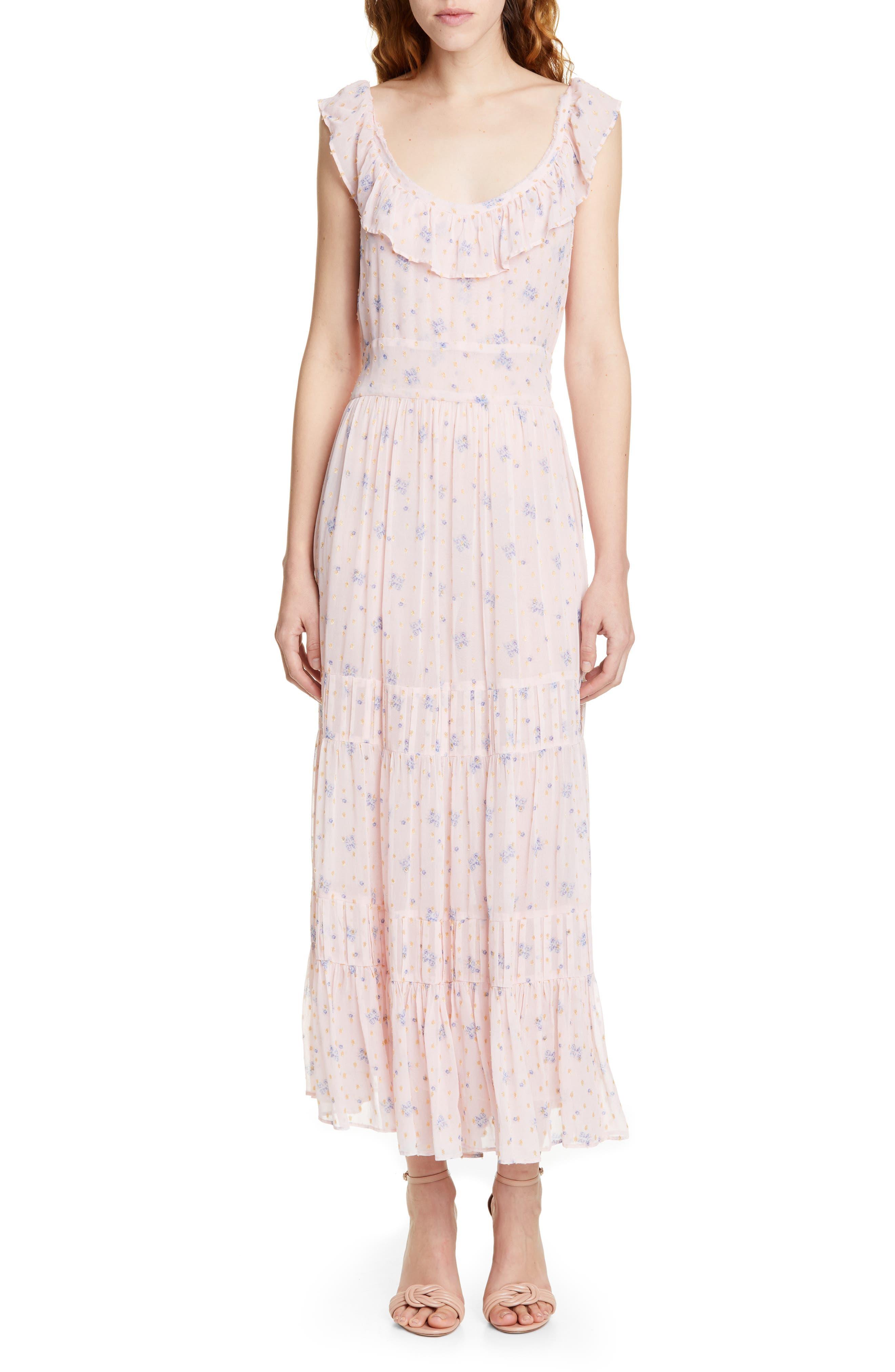 Loveshackfancy Joanne Floral Maxi Dress, Pink