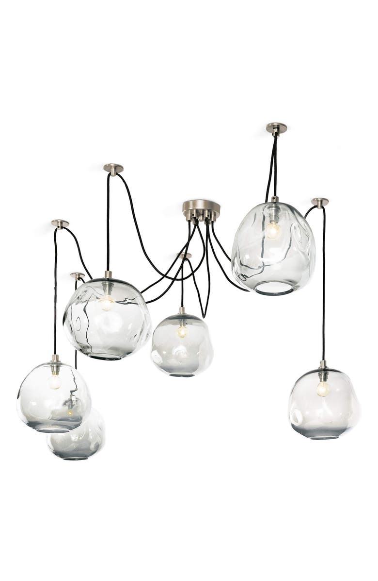 REGINA ANDREW DESIGN Molten Spider Chandelier, Main, color, POLISHED NICKEL