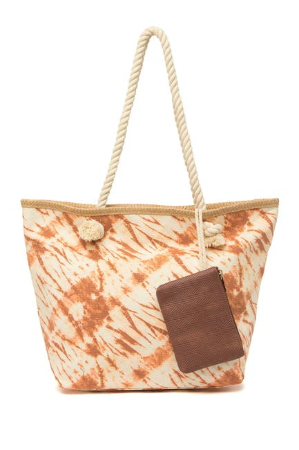 Image of Madden Girl Tie Dye Print Tote Bag with Pouch