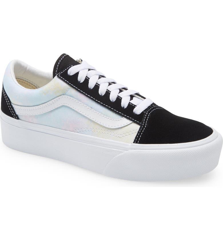 VANS Old Skool Platform Sneaker, Main, color, BLACK/ TRUE WHITE