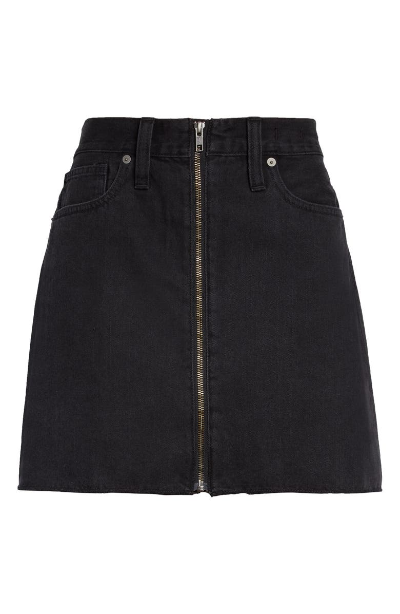 MADEWELL Rigid Denim Miniskirt, Main, color, 001
