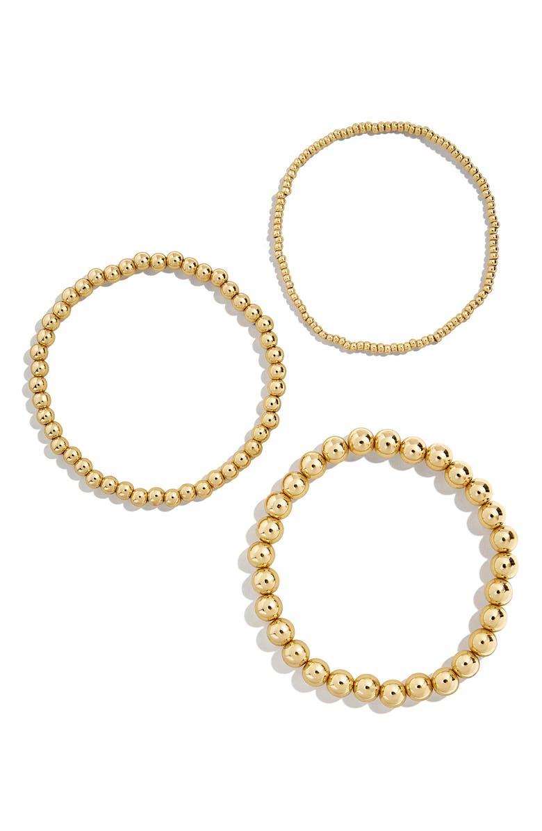 BAUBLEBAR Set of 3 Beaded Stretch Bracelets, Main, color, 710