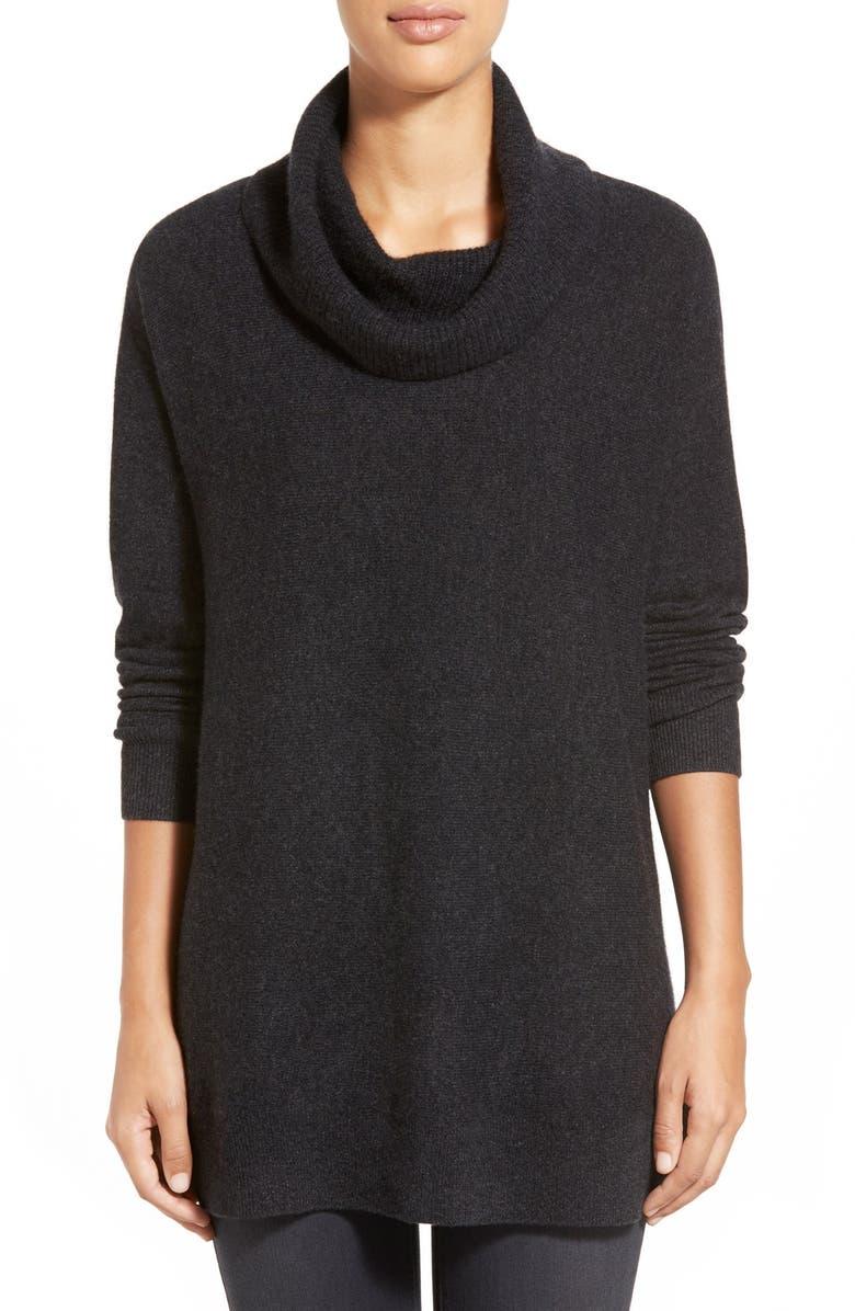 HALOGEN<SUP>®</SUP> Cowl Neck Cashmere Tunic, Main, color, 021