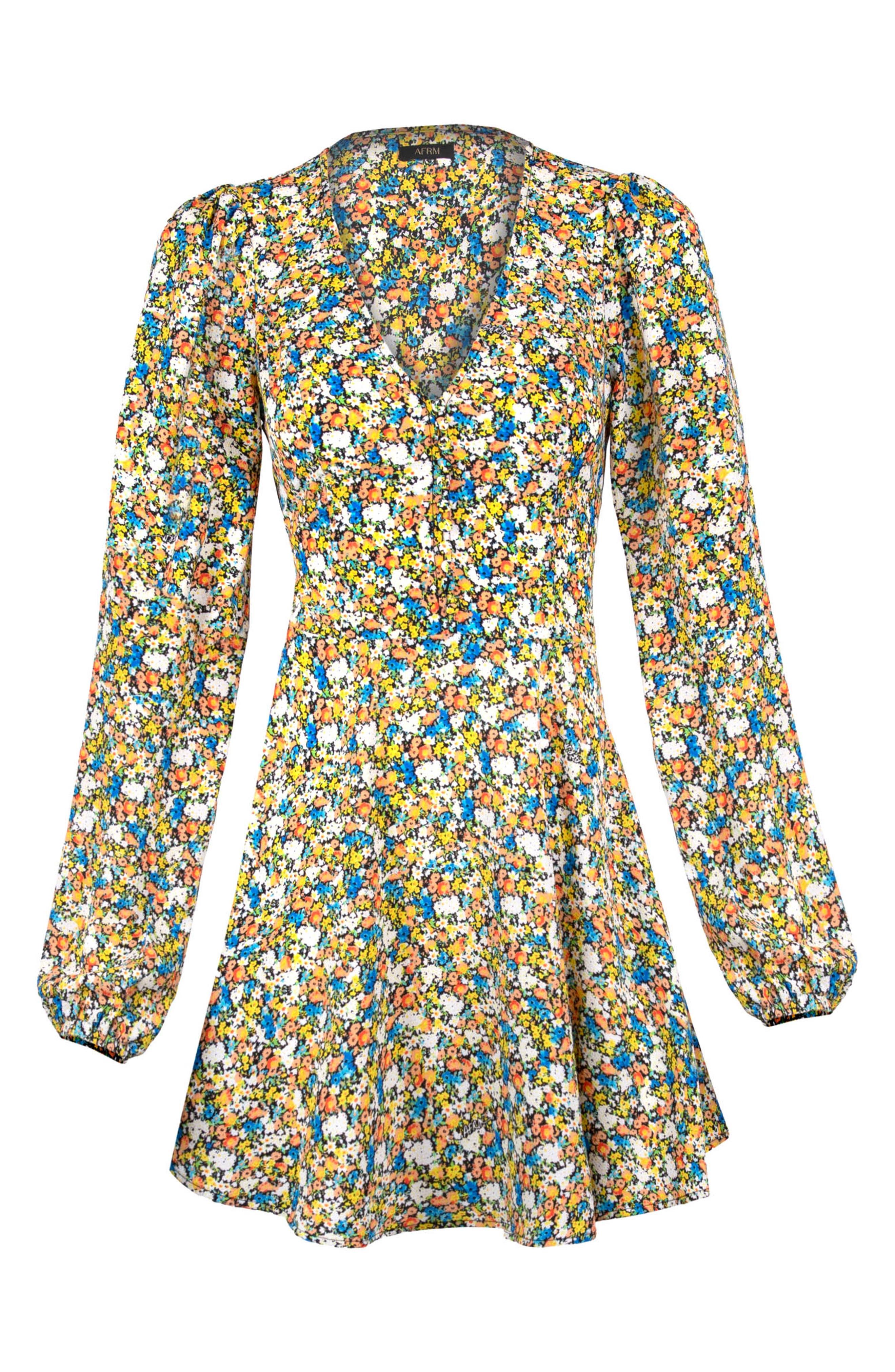 Elise Floral Long Sleeve Minidress