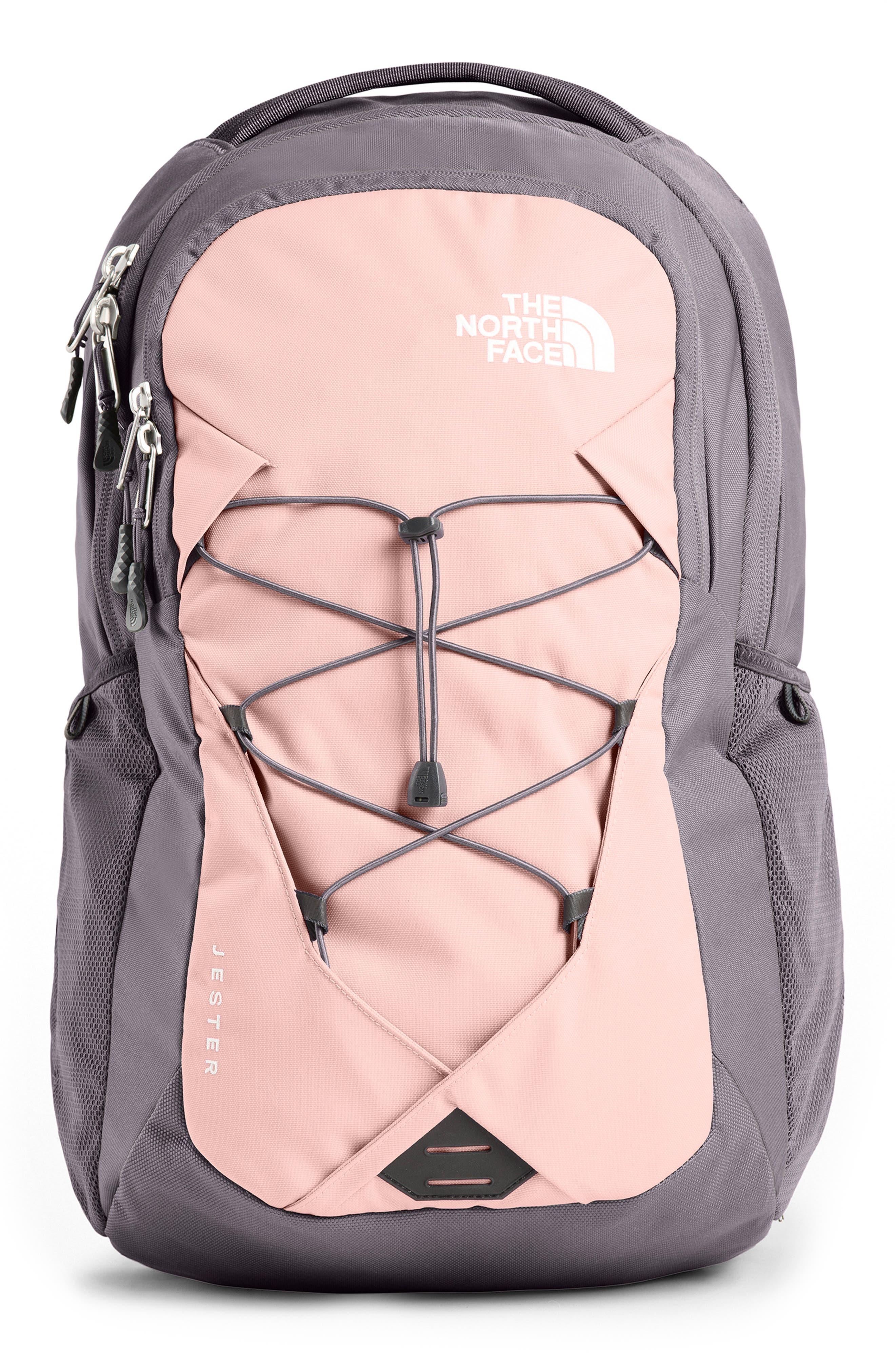 ,                             Jester Backpack,                             Main thumbnail 1, color,                             RABBIT GREY/ PINK SALT