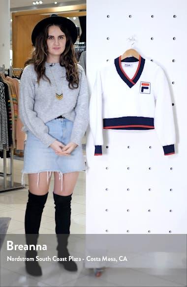 Sylvia Crop Fleece Sweatshirt, sales video thumbnail