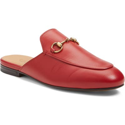 Gucci Princetown Loafer Mule - Red