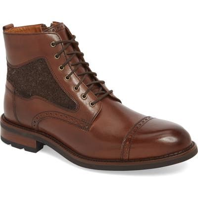 J & m 1850 Fullerton Zip Boot, Brown