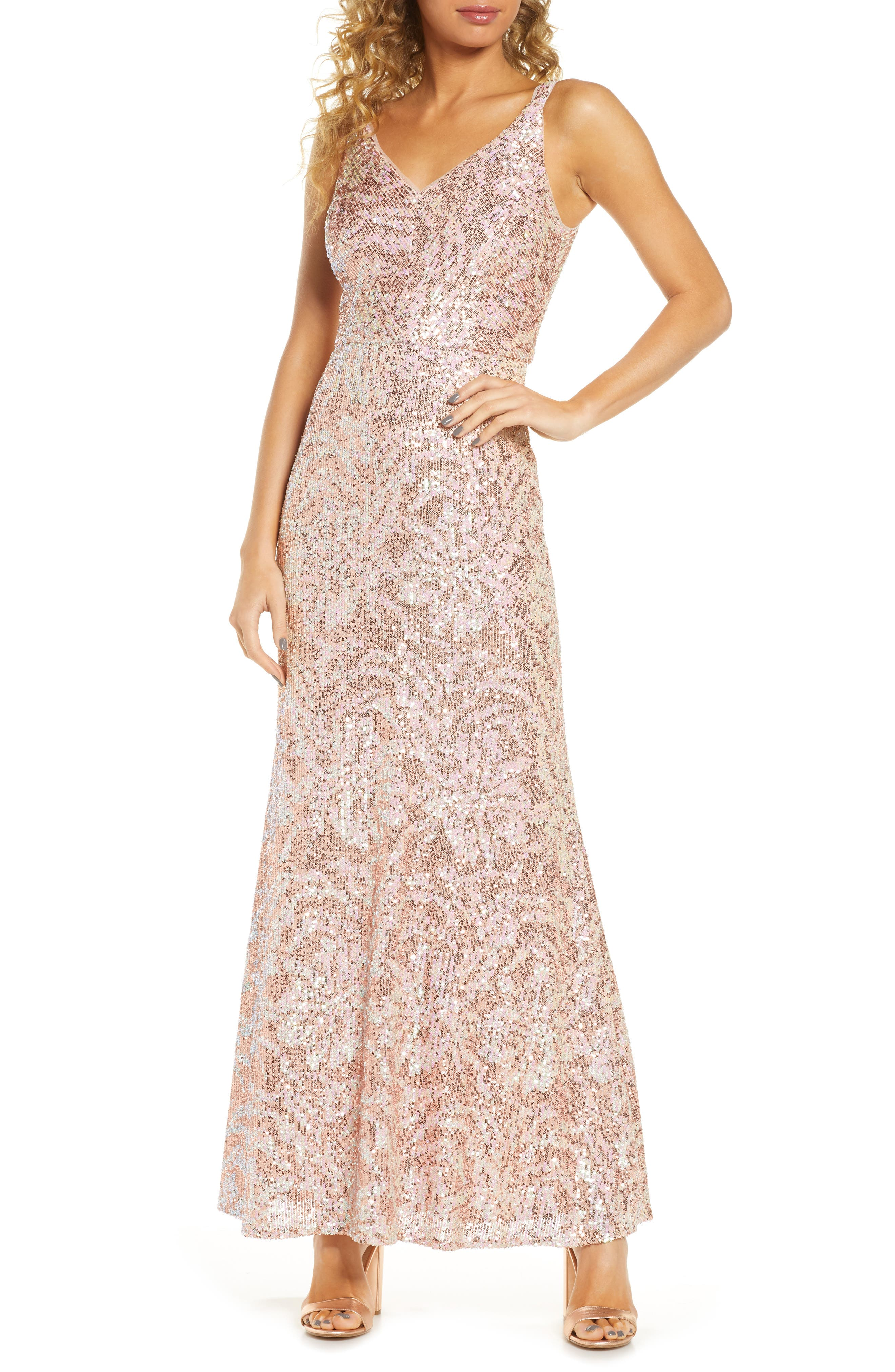 Image of Morgan & Co. Sequin Gown