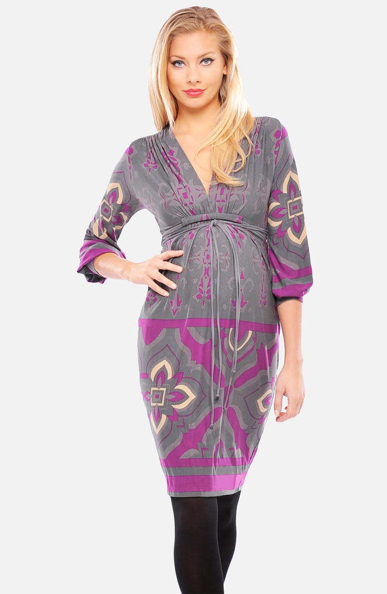OLIAN Print Maternity Dress, Main, color, 035