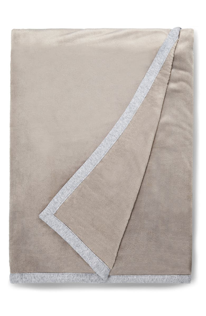 UGG<SUP>®</SUP> Duffield II Throw Blanket, Main, color, SEAL HEATHER