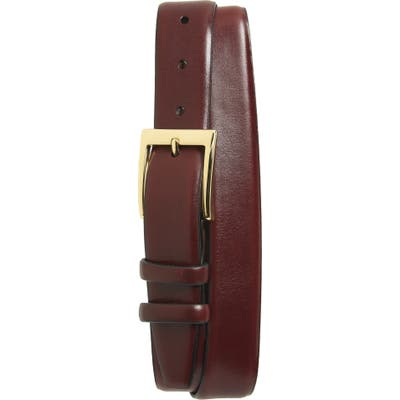 Torino Double Buckle Leather Belt, Cordovan