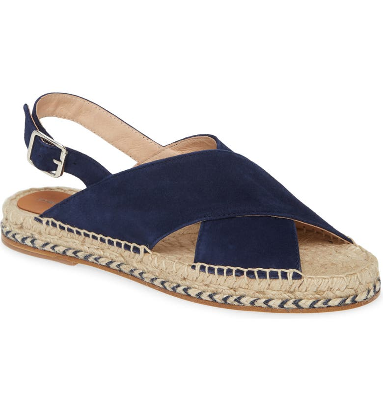 PATRICIA GREEN Myka Espadrille Sandal, Main, color, NAVY SUEDE
