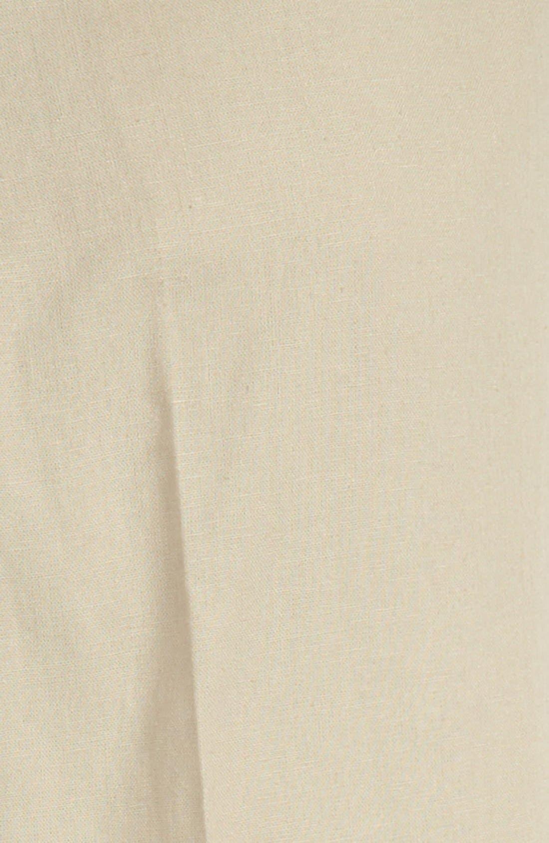 ,                             'Kirton' Flat Front Linen Blend Trousers,                             Alternate thumbnail 2, color,                             TAN