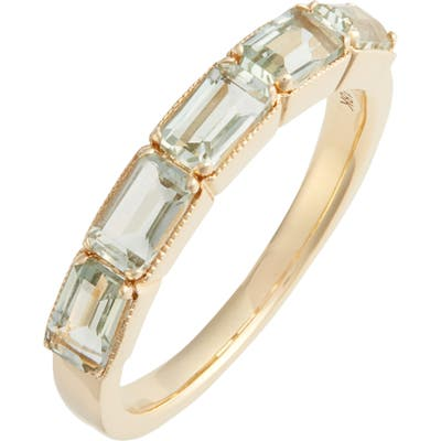 Bony Levy Green Amethyst Baguette Stack Ring (Nordstrom Exclusive)