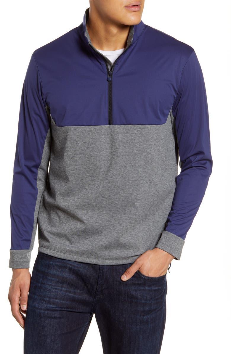 GREYSON Hybrid Golf Jacket, Main, color, SMOKE HEATHER