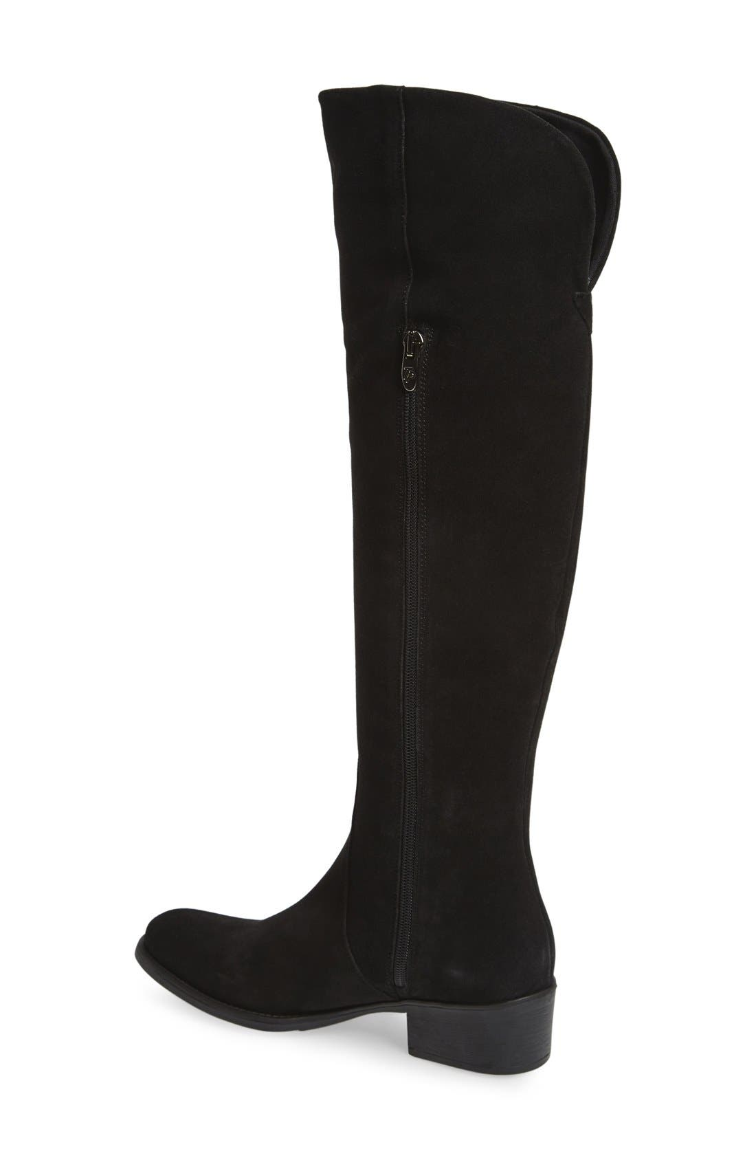 ,                             'Tallin' Over-The-Knee Riding Boot,                             Alternate thumbnail 3, color,                             BLACK SUEDE