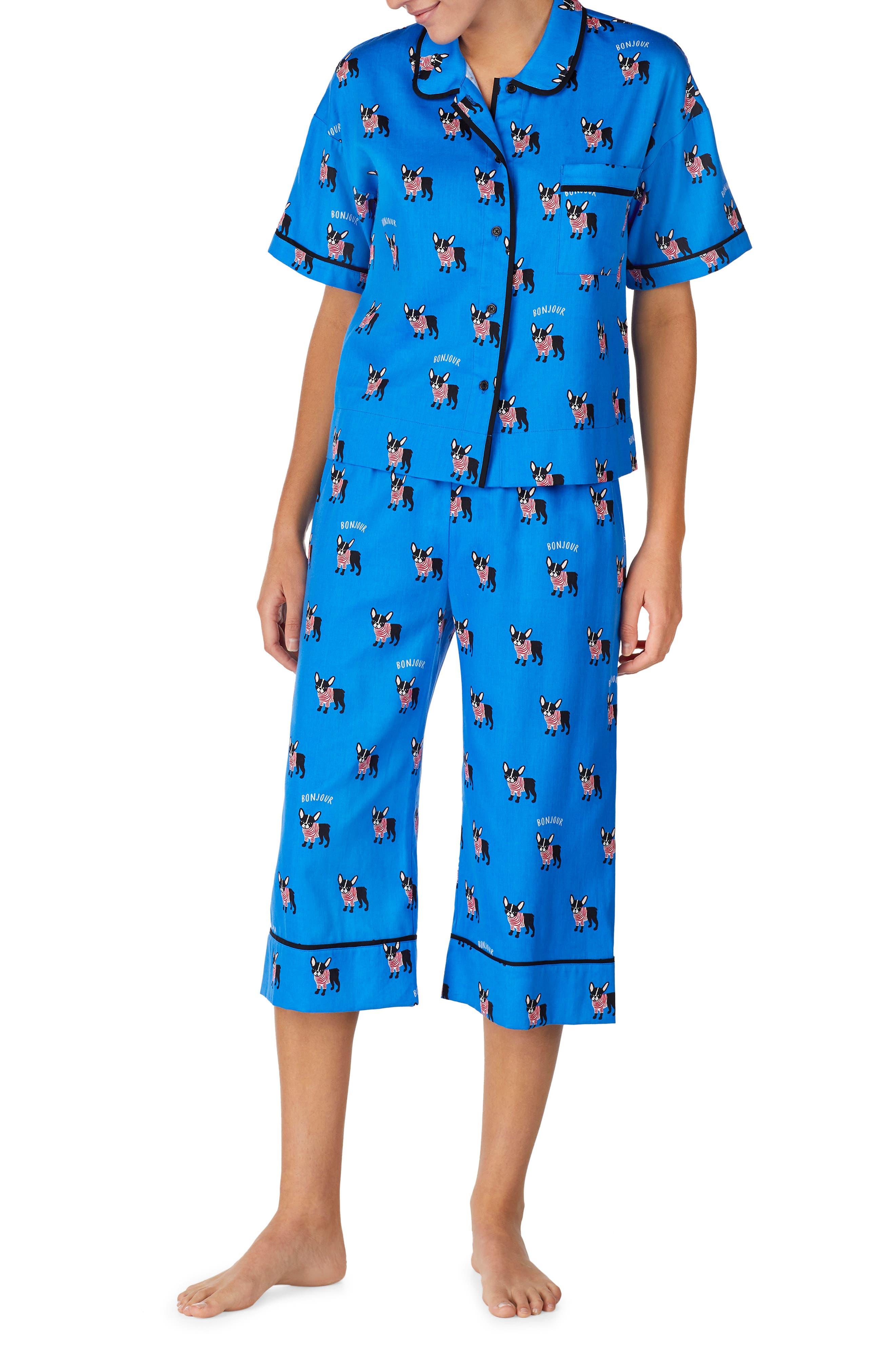 Kate Spade New York Capri Pajamas, Blue